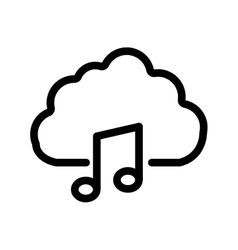 Music note cloud melody sound icon graphic vector