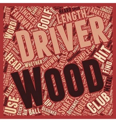 Drivers and fairway woods text background vector