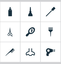 Set of simple cosmetics icons vector