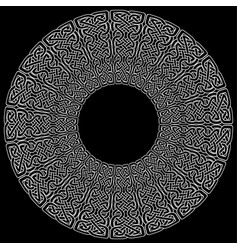celtic mandala on black background vector image
