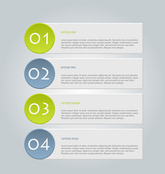 business infographics template green and grey vector image