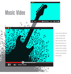 Creative artwork for music video promotion vector