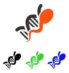 Sperm genome flat icon vector