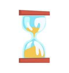 hourglass cartoon vector image