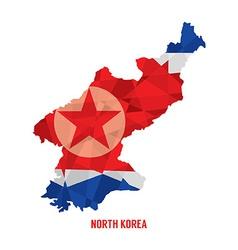 Map of North Korea vector image