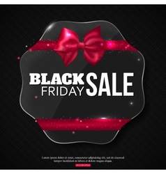 Black friday sale background with shining glass vector