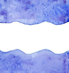 Blue watercolor paint background vector