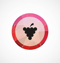 Grapes circle pink triangle background icon vector
