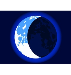 Blue crescent moon vector