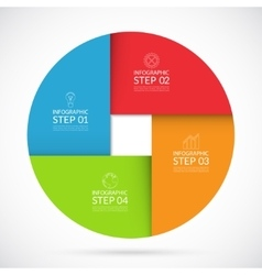 Four steps infographic circle template vector image