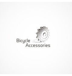 Bicycle accessories logo vector