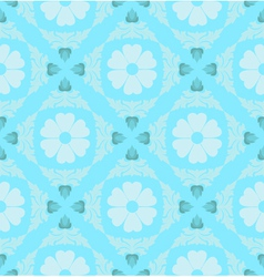Retro floral pattern wallpaper vector