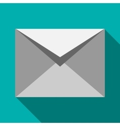 Closed white envelope icon flat style vector image