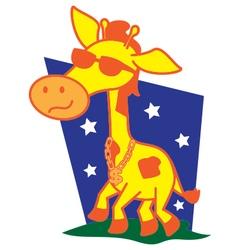 Afro giraffe vector