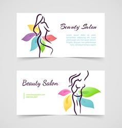Beautiful woman cards vector image