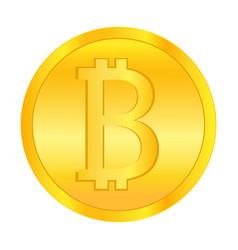 bit coin gold money vector image