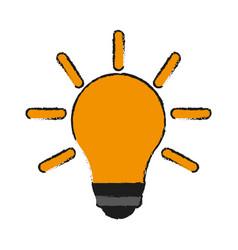 bulb cartoon draw vector image vector image