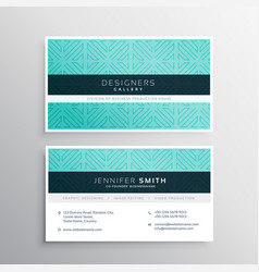 Business card template in blue pattern vector