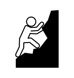 climbing extreme sport icon vector image vector image