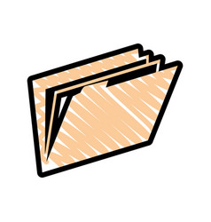 document folder icon vector image