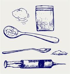 Drug syringe vector