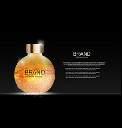 Fashion design makeup cosmetics product templat vector