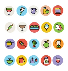 Food Colored Icons 3 vector image vector image