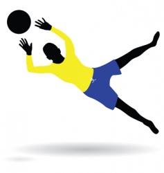 goalie vector image