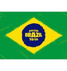 Grunge flag of brazil vector