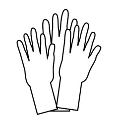 Hands of people of different nationalities icon vector