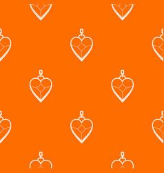 Heart shaped pendant pattern seamless vector