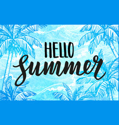 Hello summer banner template vector