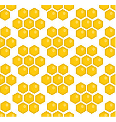 Honey seamless pattern beekeeping endless vector