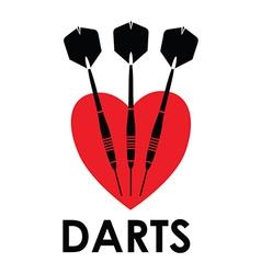 love darts vector image vector image