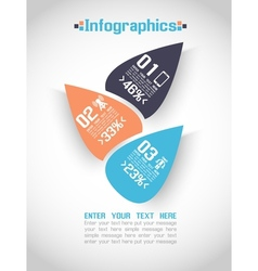 MODERN ORIGAMI BUSINESS STEB STYLE OPTIONS BANNER vector image