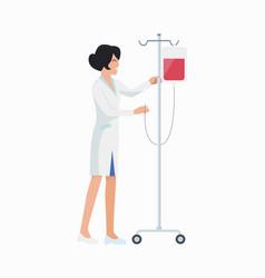 nurse with dropper icon vector image