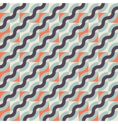 Pattern with diagonal waves vector