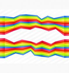 rainbow disjointed wall stripes vector image vector image