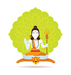 Shiva hindu god or deity vector