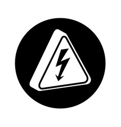 triangle caution signal icon vector image