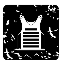 Vest for paintball icon grunge style vector