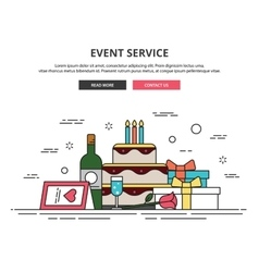 Web design template thin line icons event vector image