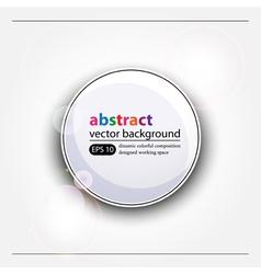 White web button vector image