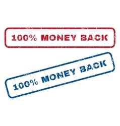 100 percent money back rubber stamps vector