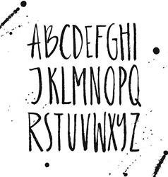 Brushy Font vector image