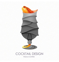 3D cocktail design vector image
