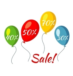 Sale colorful baloons vector