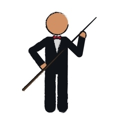 Drawing character billiard player tuxedo vector