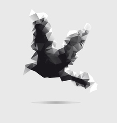 Abstract bird isolated on a white background vector