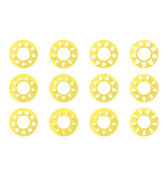 sun icons set flat design vector image